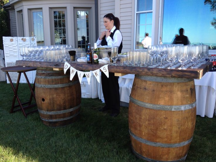 8ft Wine Barrel Plank Table/Bar & Tables - Tent All Rent All Utica Ny Rome NY Wedding Rentals Tent ...
